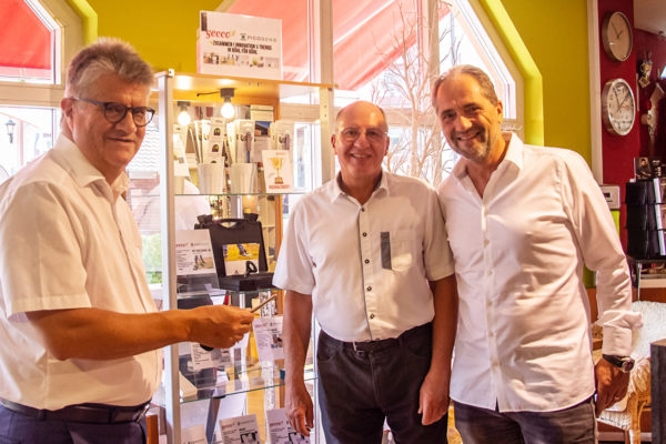 "Ingenuity meets expertise – the gecco in Bühl sets up a ""Picosens technology corner""."